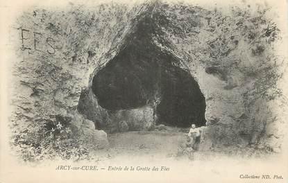 """CPA FRANCE 89 """"Arcy sur Cure, la grotte des fées"""""""