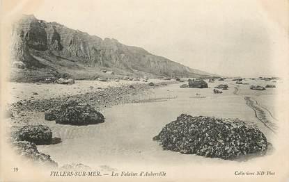 """CPA FRANCE 14 """"Villers sur mer, Falaises d'Auberville"""""""