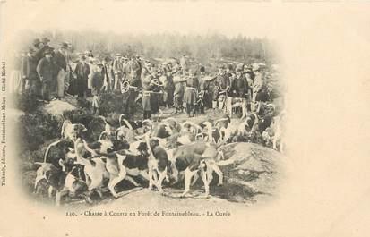 """CPA FRANCE 77 """"chasse à courre en forêt de Fontainebleau"""""""