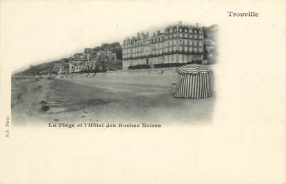 """CPA FRANCE 14 """"Trouville, la plage et l'Hotel des Roches Noires"""""""