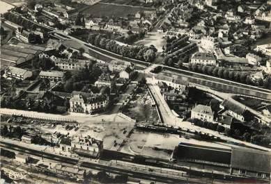 """/ CPSM FRANCE 21 """"Montbard, vue aérienne sur le quartier de la gare"""""""