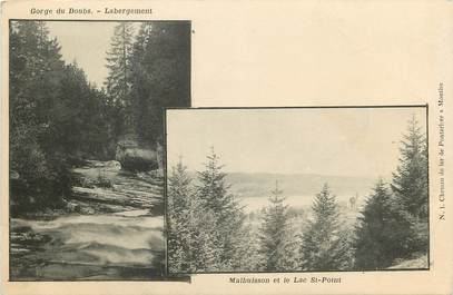 "CPA FRANCE 25 ""Gorge du Doubs, Labergement, Malbuisson"""