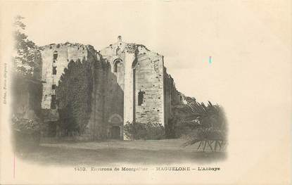 """CPA FRANCE 34 """"Maguelone, L'Abbaye"""""""