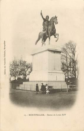 """CPA FRANCE 34 """"Montpellier, statue de Louis XIV"""""""