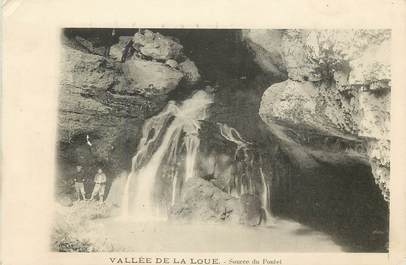 """CPA FRANCE 25 """"Vallée de La loue, source du Pontet"""""""