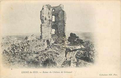 """CPA FRANCE 83 """"Chateau de Grimaud"""""""