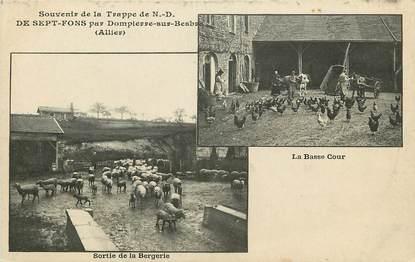"""CPA FRANCE 03 """"Sept Fonds par Dompierre sur Besbre, la bergerie et la basse cour"""""""