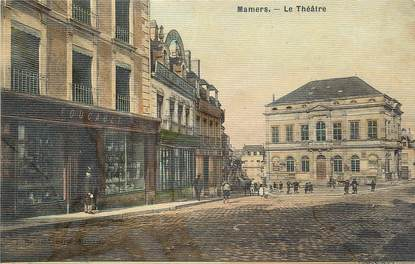 """/ CPA FRANCE 72 """"Mamers, théatre"""" / CARTE TOILEE"""