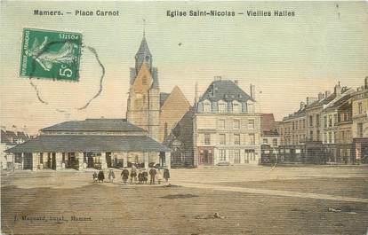 "/ CPA FRANCE 72 ""Mamers, église Saint Nicolas"" / CARTE TOILEE"