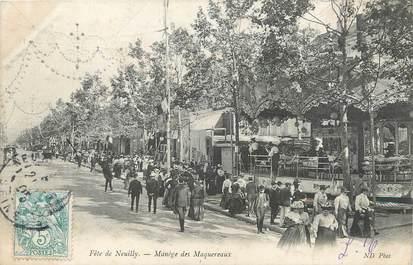 """/ CPA FRANCE 92 """"Neuilly sur Seine, manège des Maquereaux"""" / CIRQUE / MANEGE"""