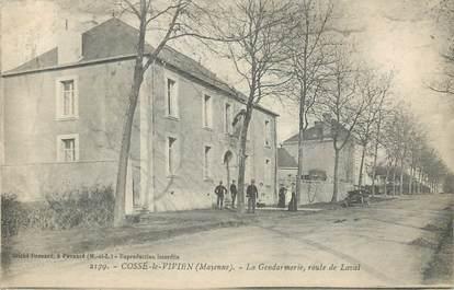 """/ CPA FRANCE 53 """"Cossé le Vivien, la gendarmerie"""""""