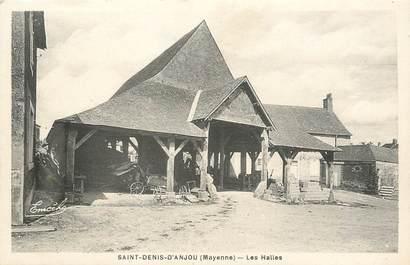 """/ CPA FRANCE 53 """"Saint Denis d'Anjou, les Halles"""""""