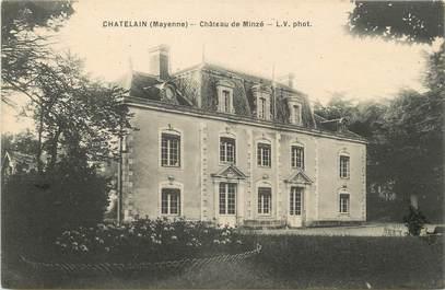 """/ CPA FRANCE 53 """"Chatelain, château de Minzé"""""""