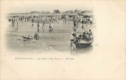 """/ CPA FRANCE 62 """"Berck plage, la plage  à Mer Haute"""""""