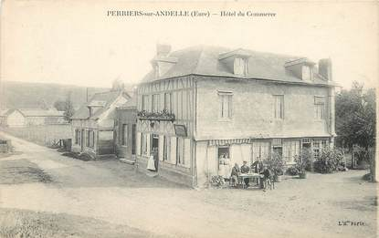 "CPA FRANCE 27 ""Perriers sur Andelle, Hotel du Commerce"""