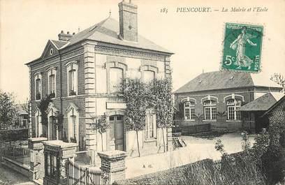 """CPA FRANCE 27 """"Piencourt, la mairie et l'Ecole"""""""