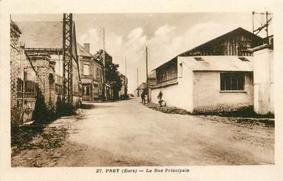"""CPA FRANCE 27 """"Prey, la rue principale"""""""