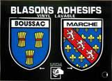 "23 Creuse / CPSM FRANCE 23 ""Boussac"" / BLASON ADHESIF"