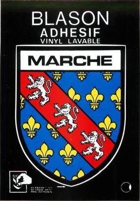 "/ CPSM FRANCE 23 ""Marche"" / BLASON ADHESIF"