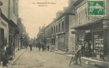 """CPA FRANCE 27 """"Nonancourt, la grande rue , imprimerie"""""""