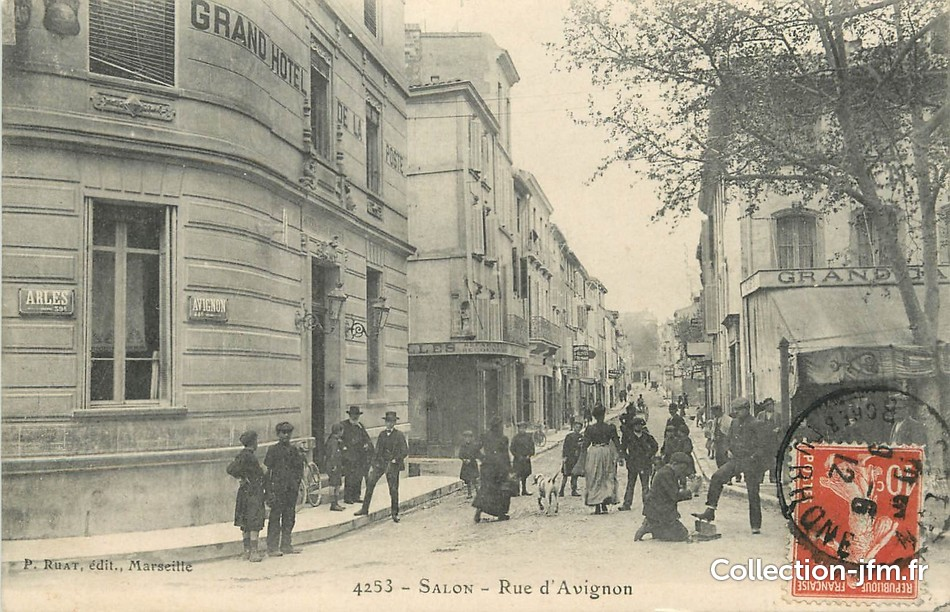Cpa france 13 salon rue d 39 avignon 13 bouches du rhone for Salon avignon