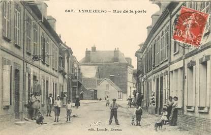 """CPA FRANCE 27 """"Lyre, rue de la poste"""""""
