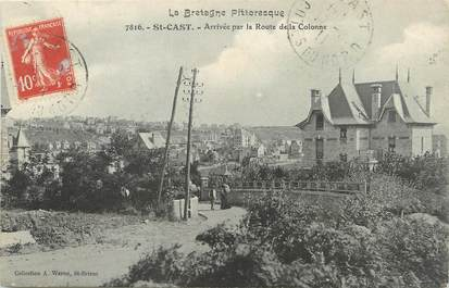 """CPA FRANCE 22 """"Saint Cast, arrivée par la route de la Colonne"""""""