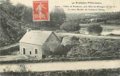 """CPA FRANCE 22 """"Vallée de Poulancre près Mur de Bretagne, le vieux moulin de l'entrée et l'Etang"""""""