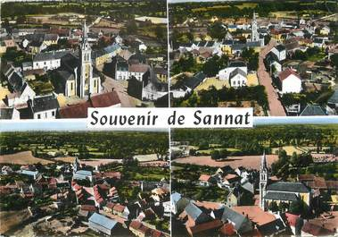 """CPSM FRANCE 23 """"Souvenir de Sannat"""""""