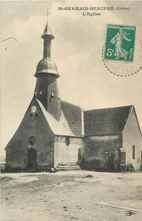 """CPA FRANCE 23 """"Saint Germain Beaupré, L'Eglise"""""""