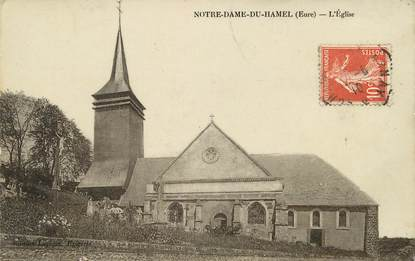 """CPA FRANCE 27 """"Notre Dame du Hamel, L'Eglise"""""""