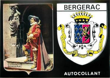 "CPSM FRANCE 24 ""Bergerac"" /  BLASON ADHESIF"