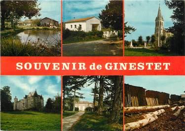 """CPSM FRANCE 24 """"Souvenir de Ginestet"""""""