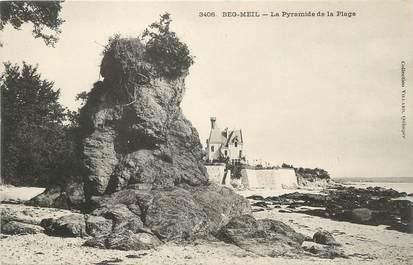 "/ CPA FRANCE 29 ""Beg Meil, la pyramide de la plage"""