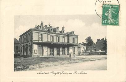 """CPA FRANCE 27 """"Montreuil l'Argillé, la mairie"""""""