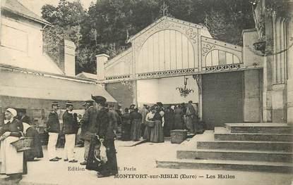 """CPA FRANCE 27 """"Montfort sur Risle, les Halles"""""""