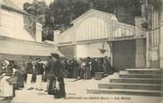 """27 Eure CPA FRANCE 27 """"Montfort sur Risle, les Halles"""""""