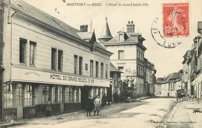 "CPA FRANCE 27 ""Montfort sur Risle, Hotel du Grand Soleil d'Or"""