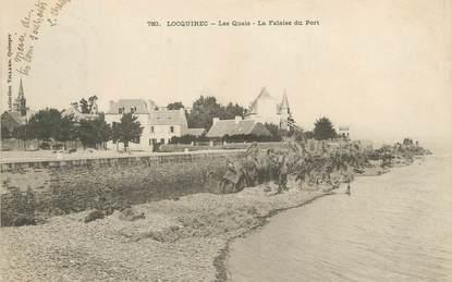 """/ CPA FRANCE 29 """"Locquirec, les quais, la falaise du port"""""""