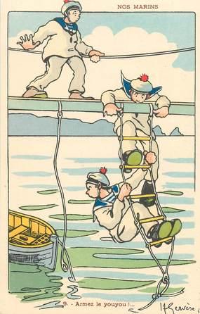 "CPA ILLUSTRATEUR GERVESE ""Nos marins, Armez le youyou"""