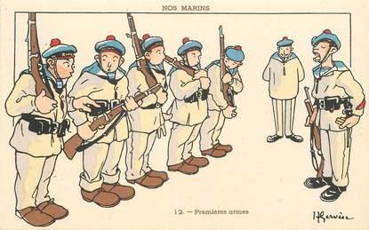 "CPA ILLUSTRATEUR GERVESE ""Nos marins, premières armes"""