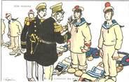"Illustrateur CPA ILLUSTRATEUR GERVESE ""Nos marins, inspection des sacs"""