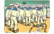 "Illustrateur CPA ILLUSTRATEUR GERVESE ""Nos marins, incendie à bord"""