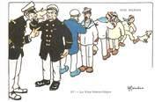 """Illustrateur CPA ILLUSTRATEUR GERVESE """"Nos marins, la voie hiérarchique"""""""