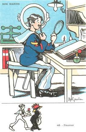 "CPA ILLUSTRATEUR GERVESE ""Nos marins, Fourrier"""