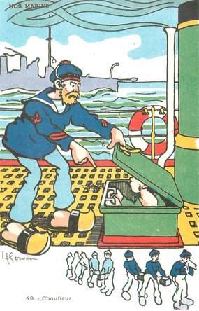 "CPA ILLUSTRATEUR GERVESE ""Nos marins, chauffeur"""