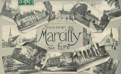 """CPA FRANCE 27 """"Marcilly sur Eure"""" / Vues sur la ville"""