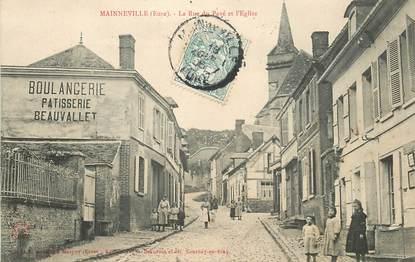 """CPA FRANCE 27 """"Mainneville, la rue du Pavé"""""""