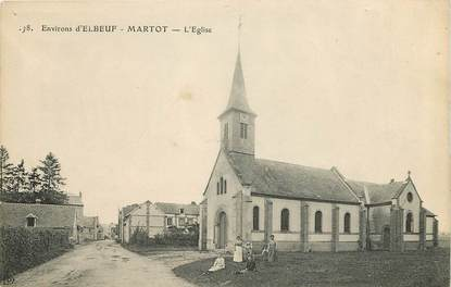"CPA FRANCE 27 ""Environs d'Elbeuf, Martot, l'Eglise"""