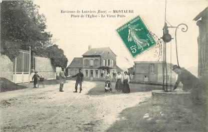 """CPA FRANCE 27 """"Montaure, Place de l'Eglise"""""""